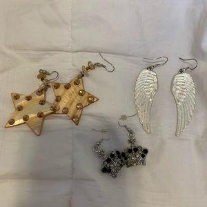 Accessories - Star wings and crown earrings